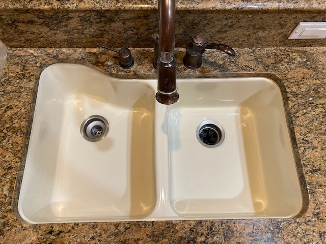 Kitchen sink refinished beige