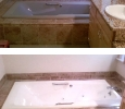 Bahia Vista Sarasota home bathtub resurfacing with new color