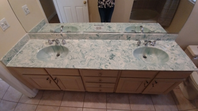 Marble counter that will be reglazed