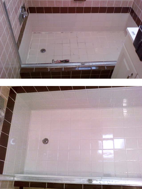 tile shower resurfaced