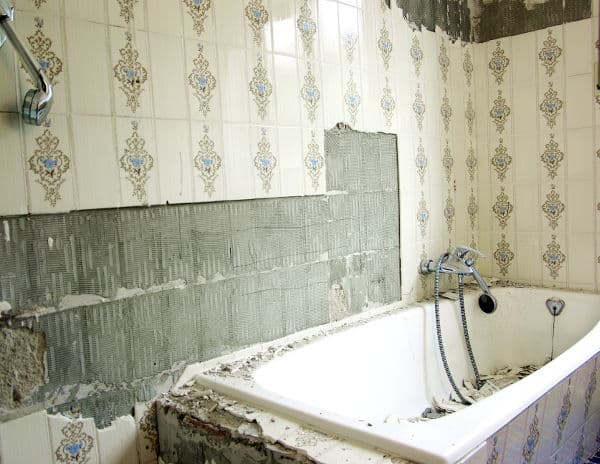 removing old bathtub
